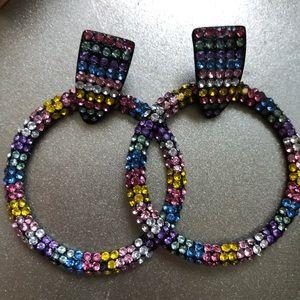 Funky hoop earrings